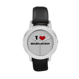 I Love Registration Wrist Watch