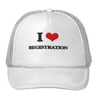I Love Registration Hats