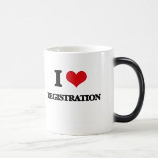 I Love Registration Morphing Mug