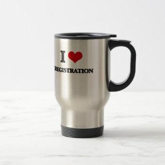 I Love Registration Stainless Steel Travel Mug
