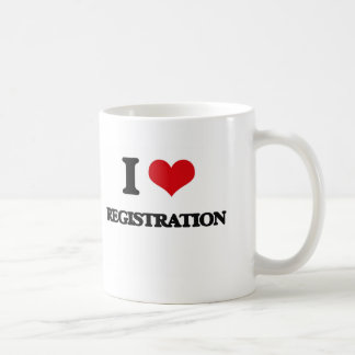 I Love Registration Basic White Mug