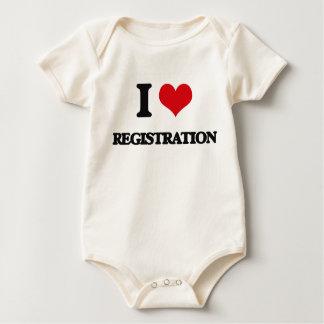 I Love Registration Baby Creeper