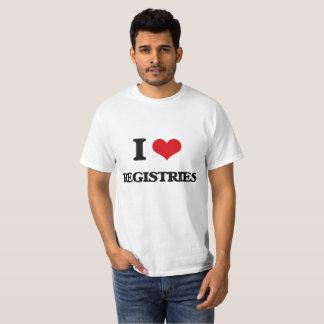 I Love Registries T-Shirt