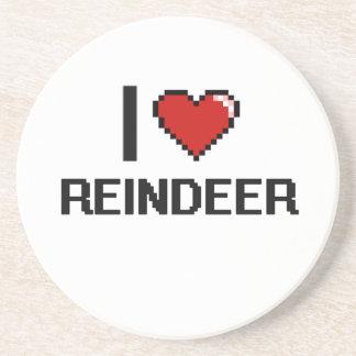 I love Reindeer Digital Design Beverage Coasters