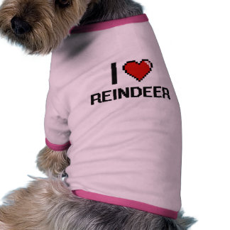 I love Reindeer Digital Design Pet Tshirt