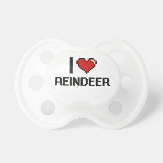 I love Reindeer Digital Design BooginHead Pacifier