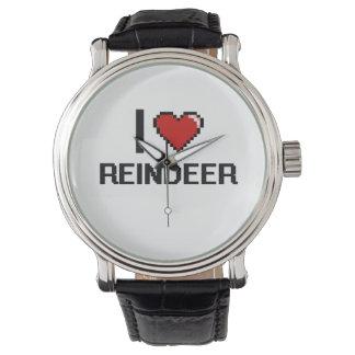 I love Reindeer Digital Design Watches