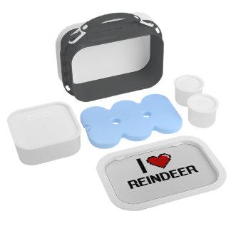I love Reindeer Digital Design Yubo Lunch Box
