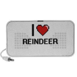 I love Reindeer Digital Design Travel Speaker