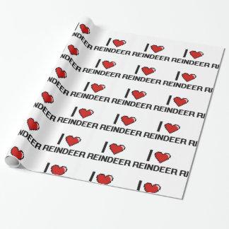 I love Reindeer Digital Design Wrapping Paper