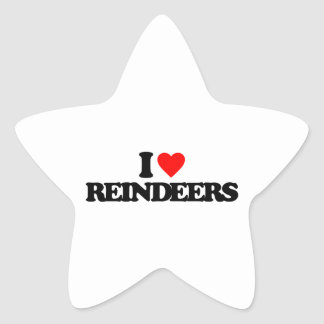 I LOVE REINDEERS STICKERS