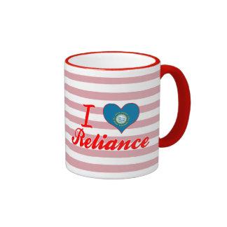 I Love Reliance, South Dakota Ringer Mug