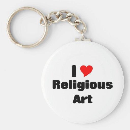 I love Religious art Key Chain