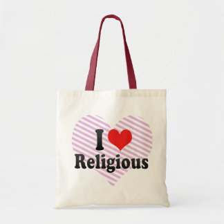 I Love Religious Canvas Bag