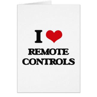 I Love Remote Controls Greeting Card