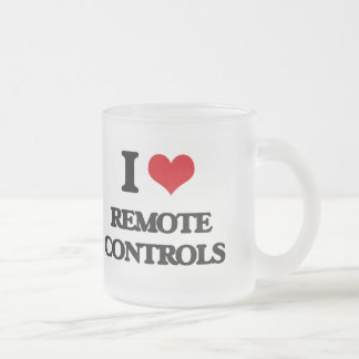 I Love Remote Controls Frosted Glass Mug