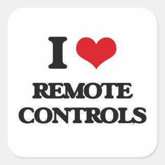 I Love Remote Controls Square Sticker