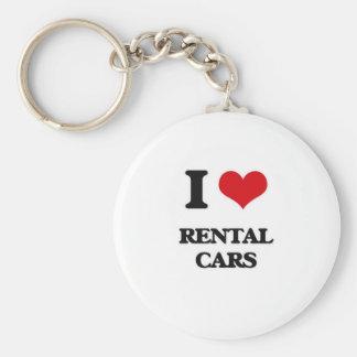 I Love Rental Cars Key Ring