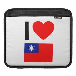i love republic of china iPad sleeve