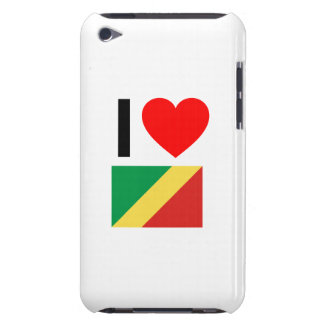 i love republic of the congo Case-Mate iPod touch case