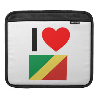 i love republic of the congo iPad sleeves
