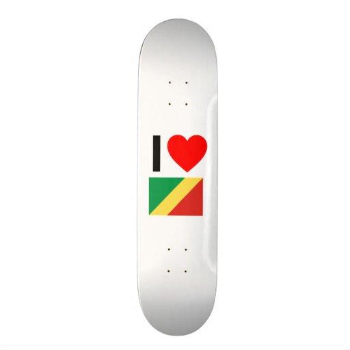 i love republic of the congo skateboard
