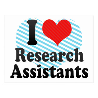I Love Research Assistants Postcard