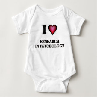 I Love Research In Psychology Baby Bodysuit