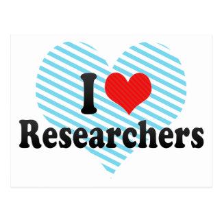 I Love Researchers Postcards