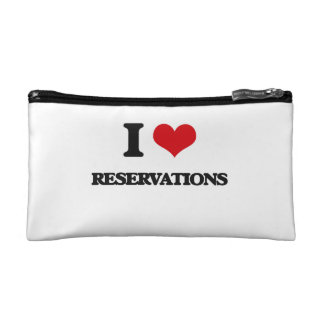 I Love Reservations Cosmetic Bags