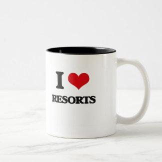 I Love Resorts Two-Tone Mug