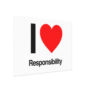 i love responsibility stretched canvas print