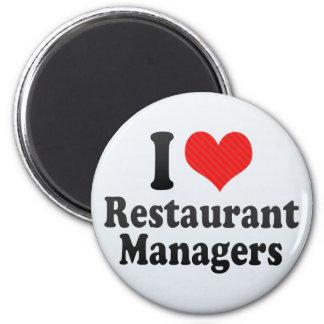 I Love Restaurant Managers Fridge Magnets