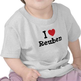 I love Reuben heart custom personalized T-shirt