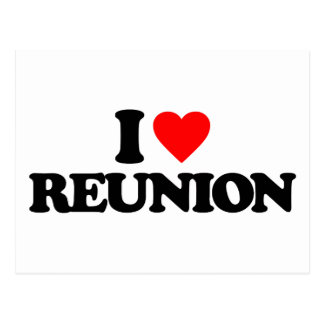I LOVE REUNION POSTCARD