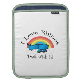 I love rhinos deal with it sleeve for iPads