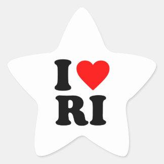 I LOVE RI STICKER