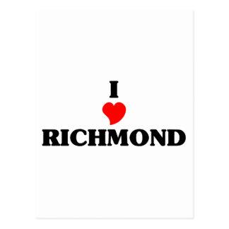 I love Richmond Postcard