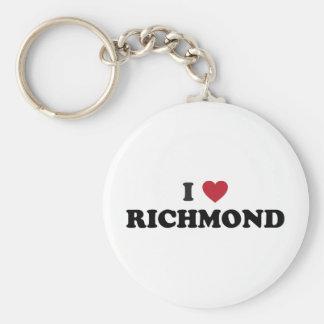 I love Richmond Virginia Basic Round Button Key Ring