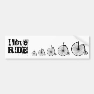 I love Ride a Bicycle Bumper Sticker