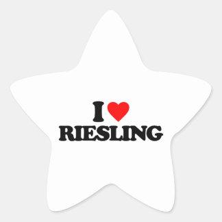 I LOVE RIESLING STAR STICKER