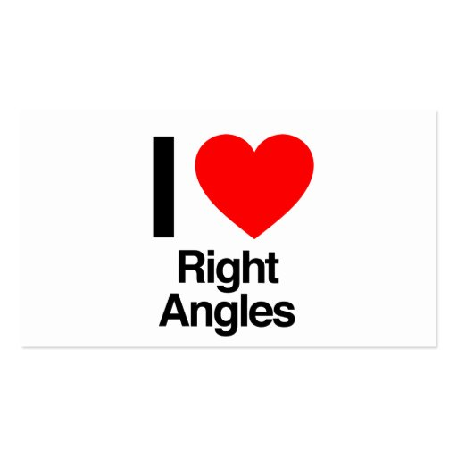 i love right angles business card template
