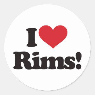 I Love Rims! Sticker