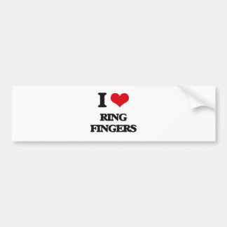 I love Ring Fingers Bumper Sticker
