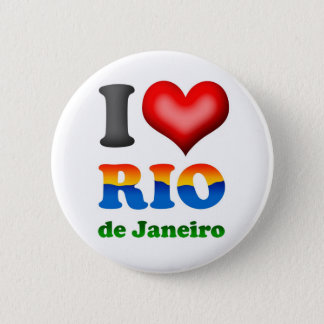 I Love Rio de Janeiro, Brazil The Wonderful City 6 Cm Round Badge