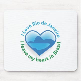 I Love Rio de Janeiro - I Leave my Heart in Brazil Mouse Pad