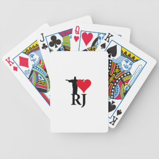 I Love River of Janerio Brazil Series Bicycle Playing Cards
