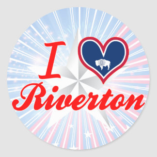 I Love Riverton, Wyoming Sticker