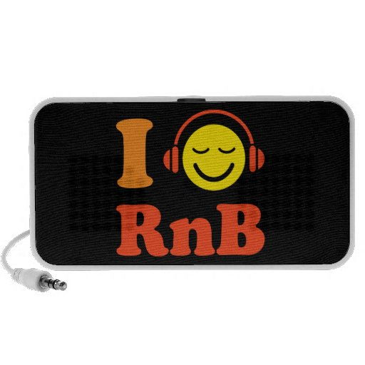 I love RnB music smiley with headphones speakers