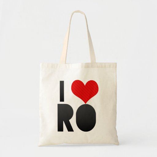 I Love RO Canvas Bag